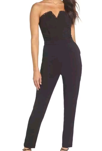 0d88552012f9 Harlyn strapless black jumpsuit. Size 10 😍 -  150